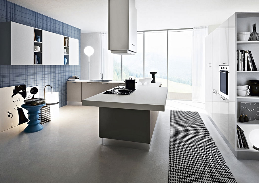 white modern expensive kitchen set