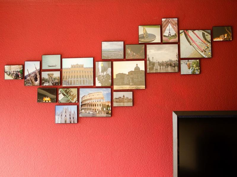 Abstract Arraging Ways to Hang Pictures