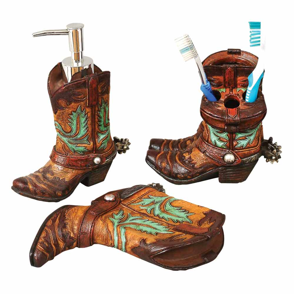 Accessories Western Boots Bathroom Decor (Image 2 of 10)