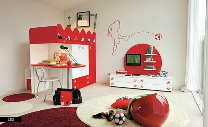 Amazing Kids Bedroom Design with learning space