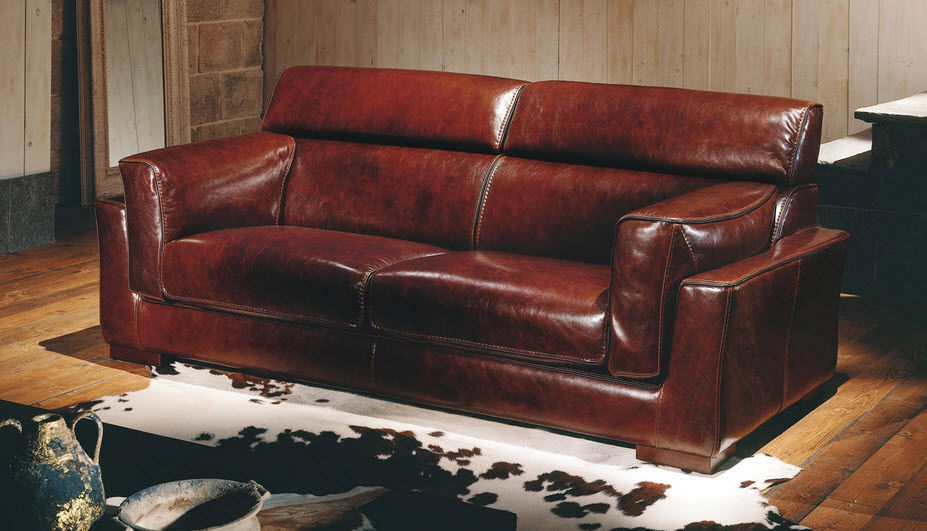Ancient Leather Sleeper Sofas