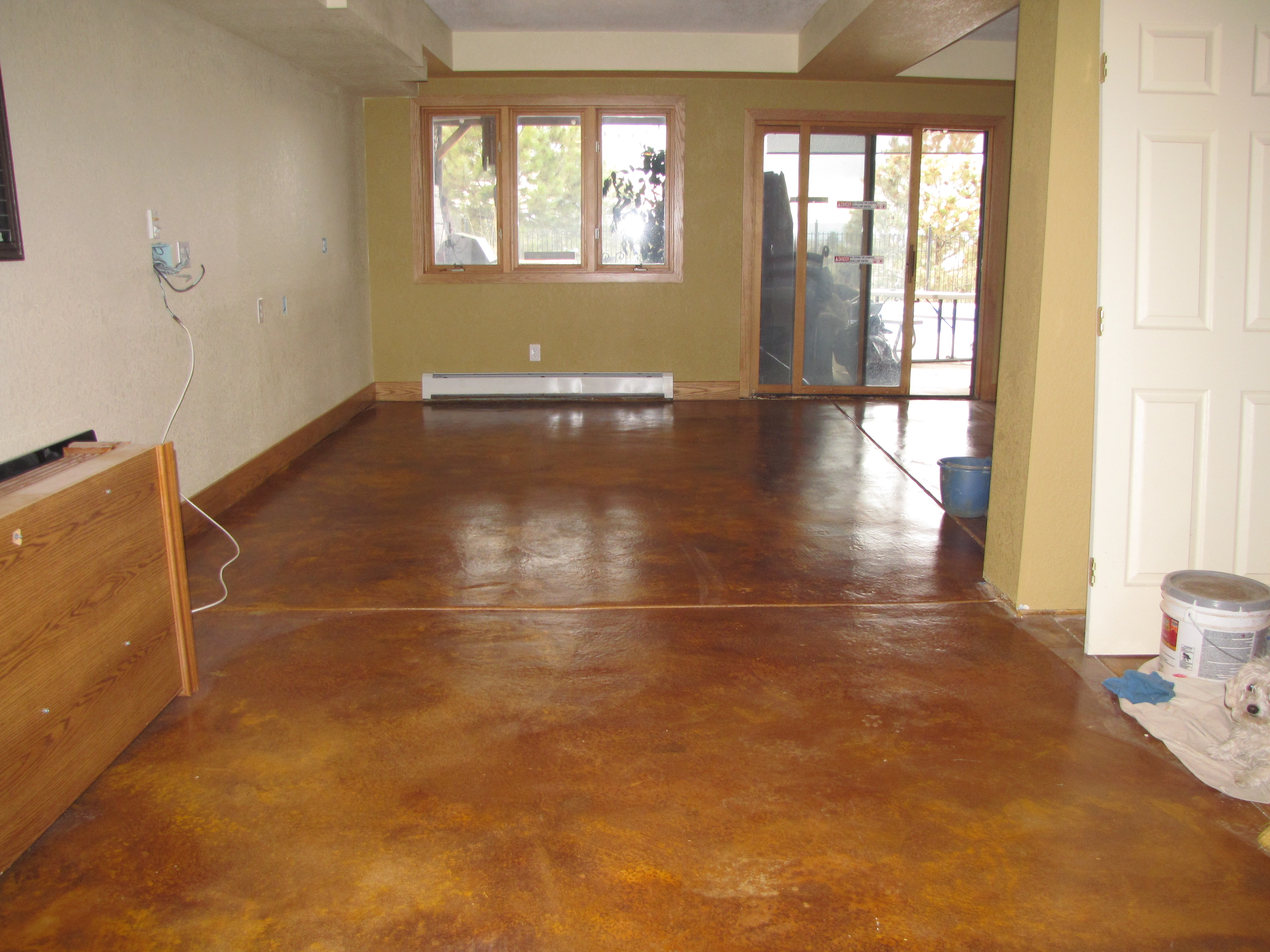Basement Floor Finished New Paint (Image 1 of 10)