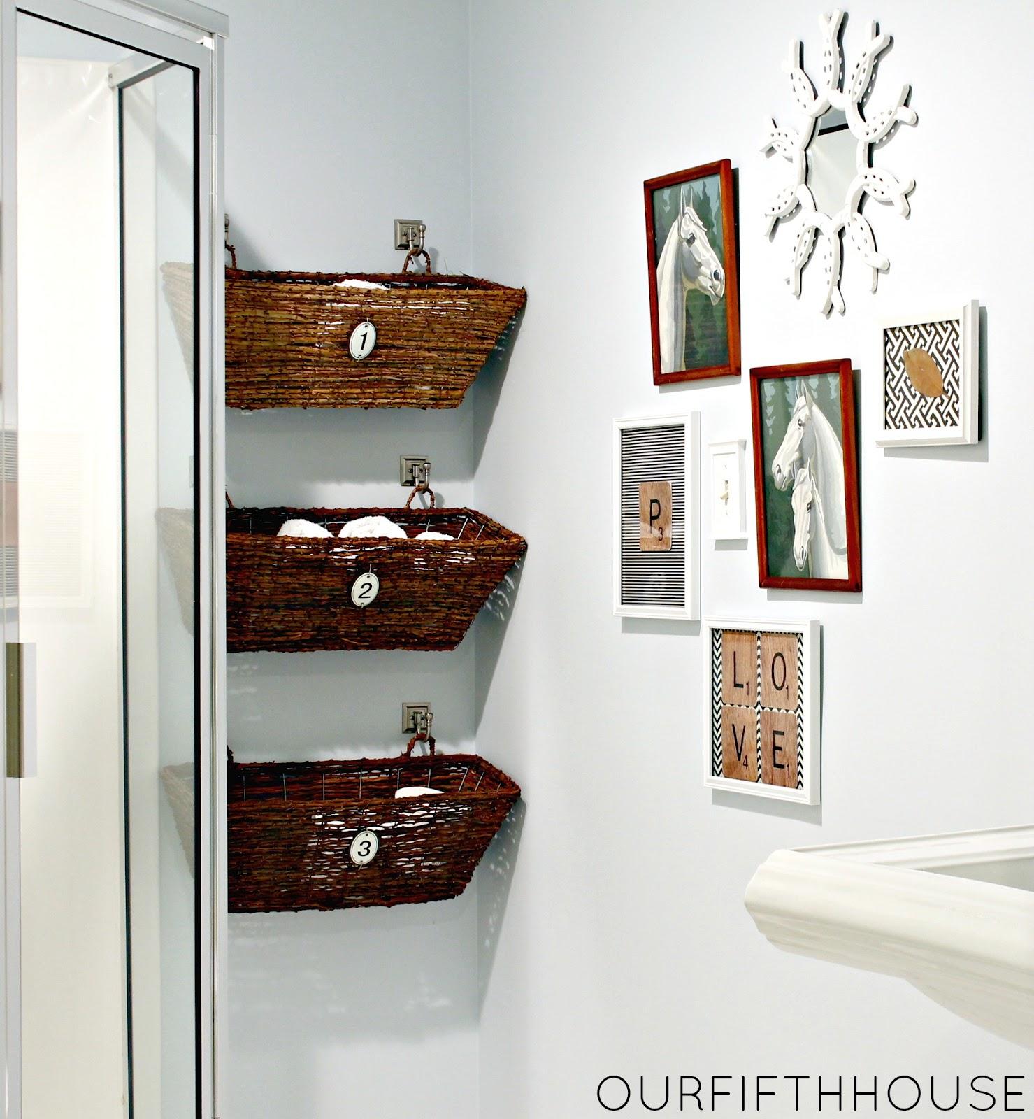 Basket Arrange The Towels In Your Bathroom (Image 1 of 10)