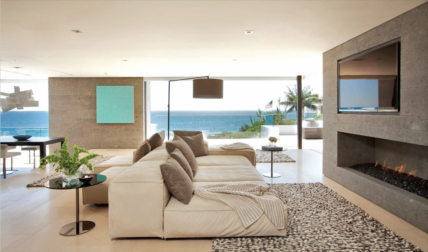 Beach Theme Minimalist Living Room Decorations (Image 2 of 10)