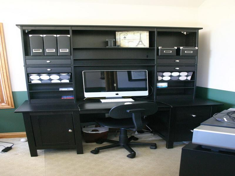 Black Clever Home Office Decor Ideas (View 1 of 10)