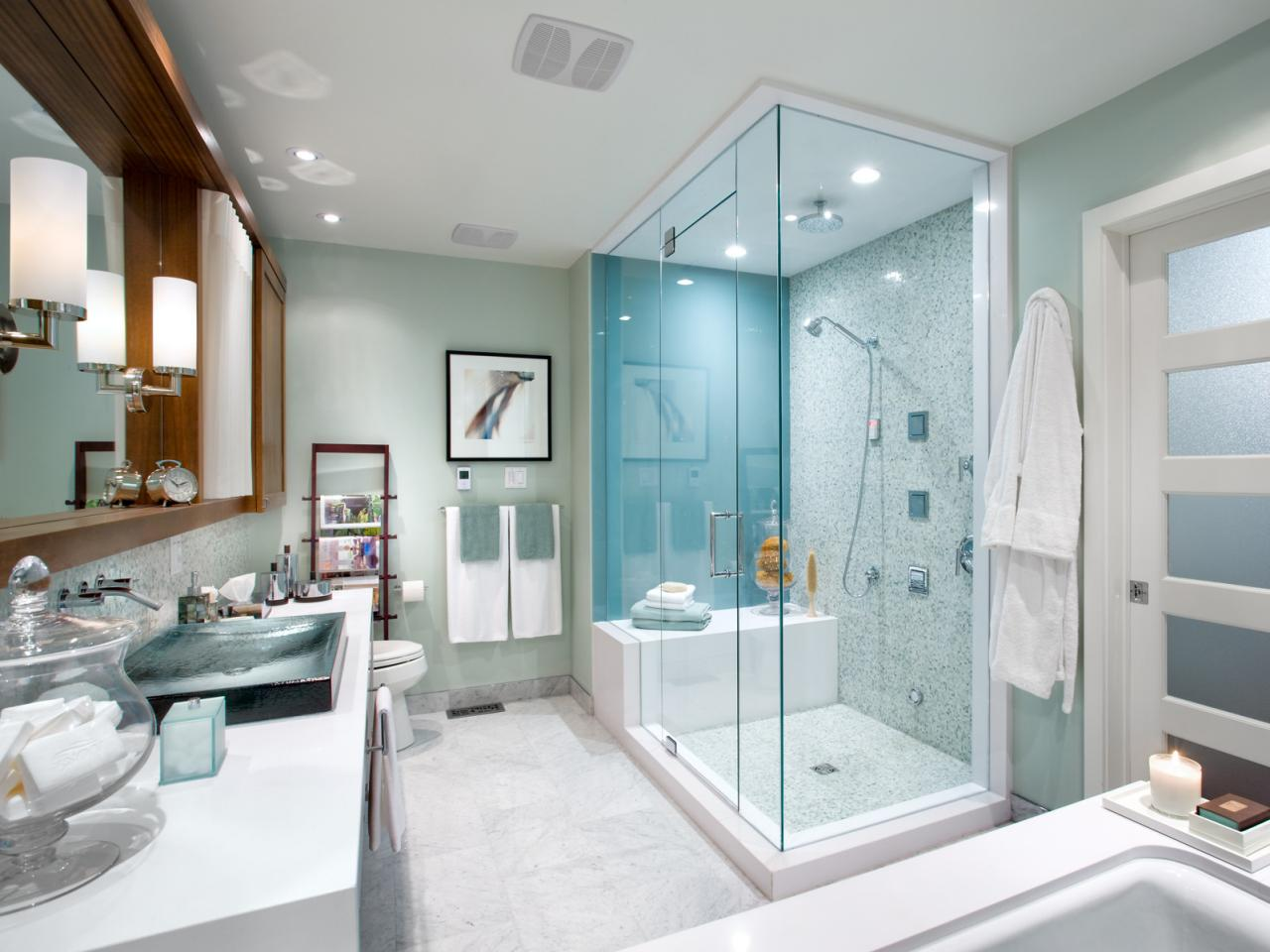 Blue Light Bathroom Remodeling Ideas