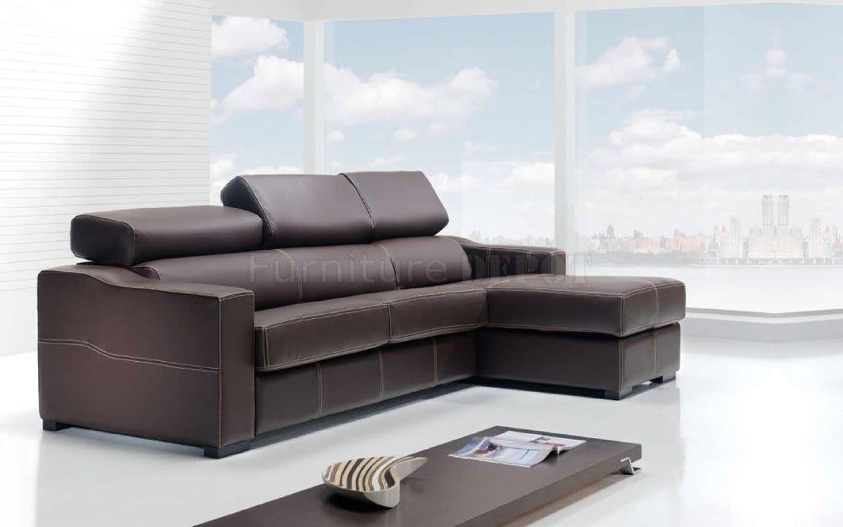 Brown Corner side Small Sectional Sofa