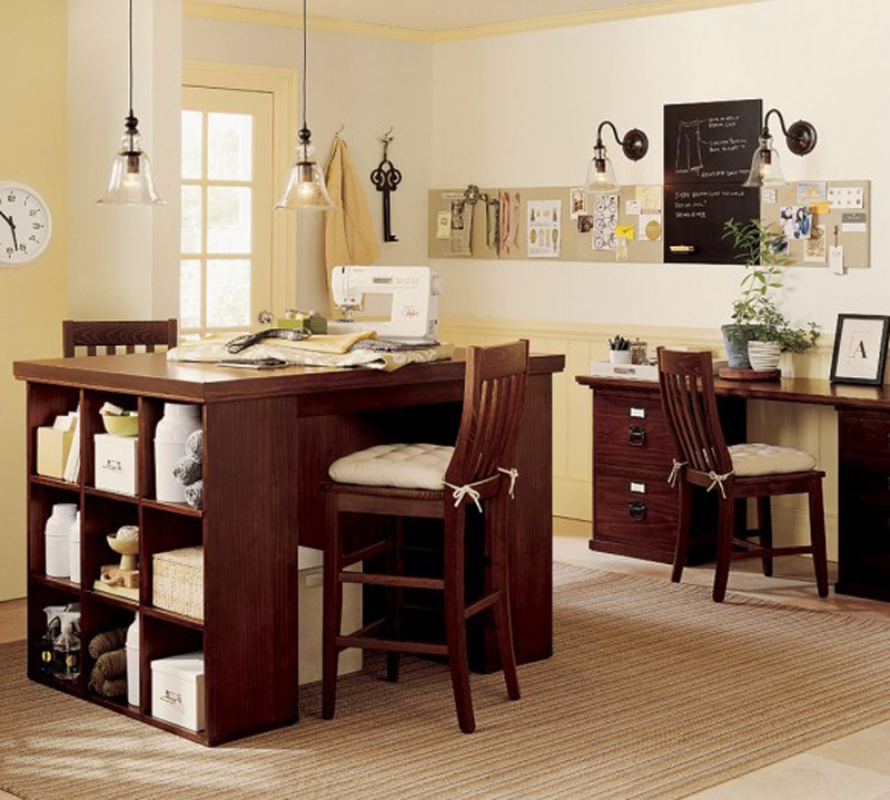 Brown Wooden Organization Ideas for Sofa Tables with Storage