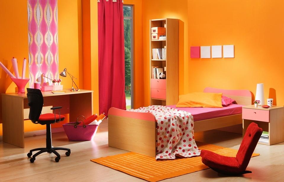 Children Bedroom Energetic Orange Home Decor (View 3 of 10)