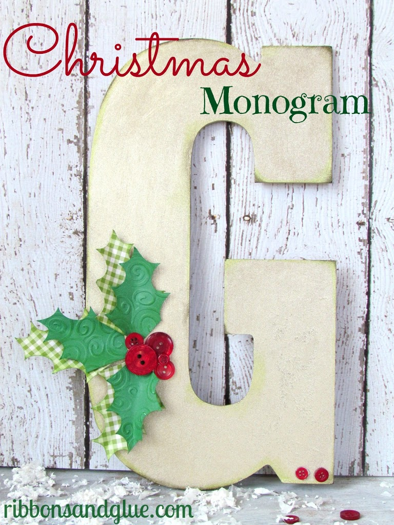 Christmas Holly Monogram (View 1 of 10)