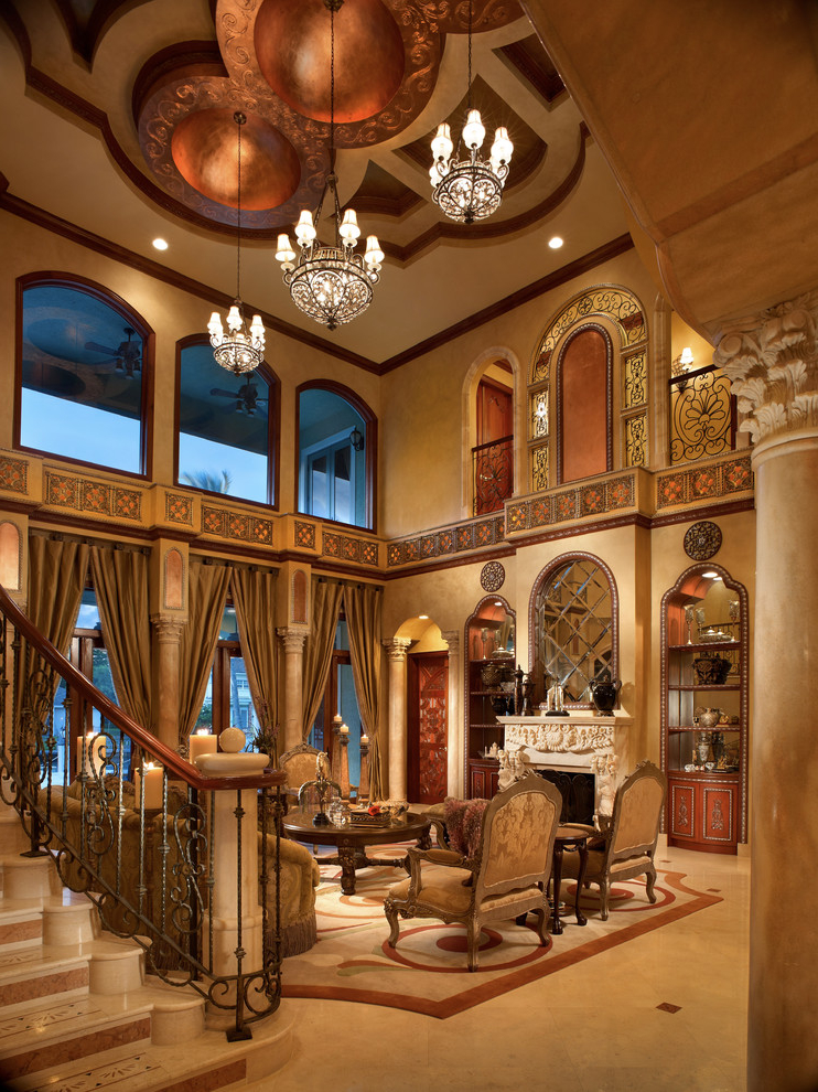 Classic And Luxury Living Room In Indian Theme (Image 1 of 8)