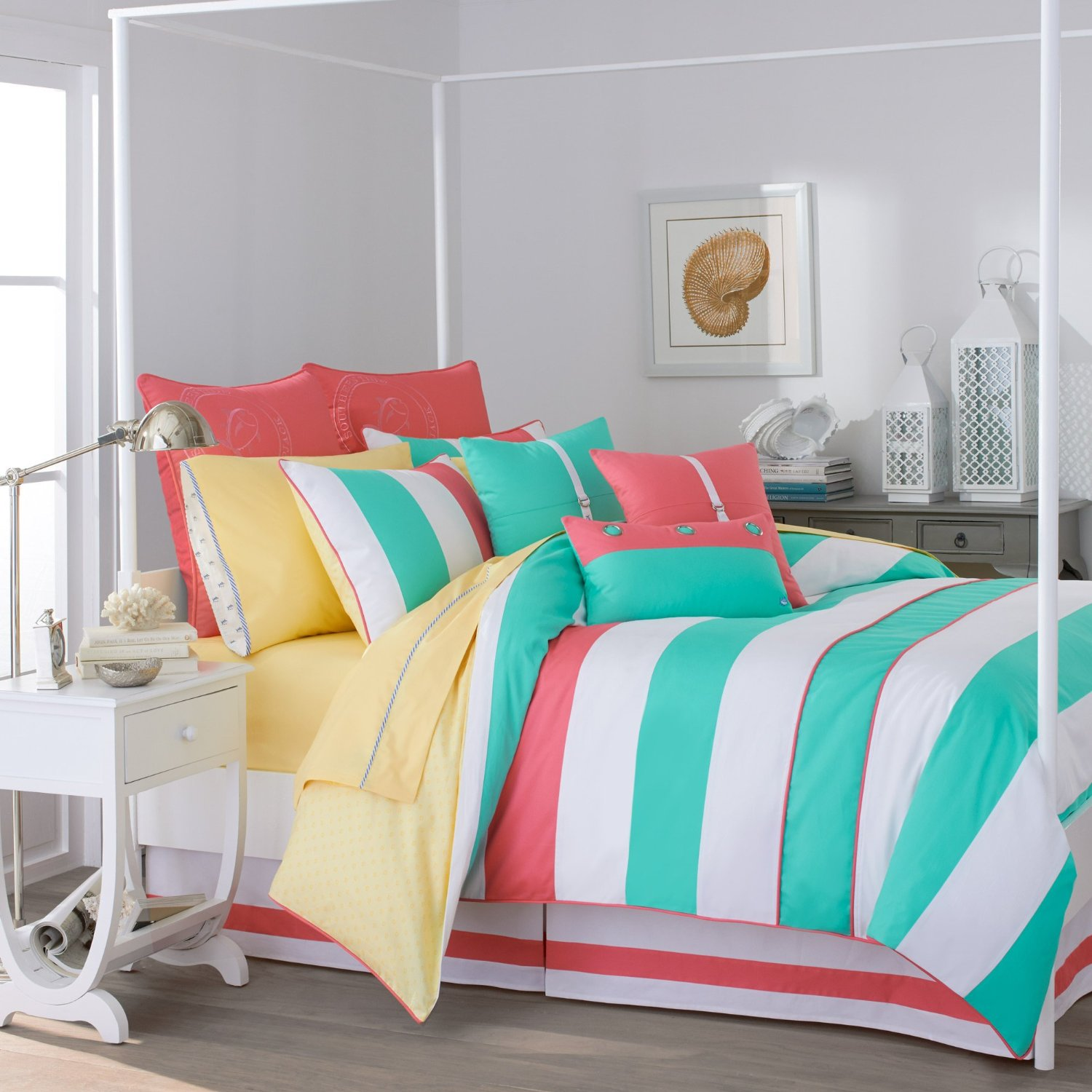 Bed sheets designs for girls - Colorful Stripe Bedding For Teen Girls Image 3 Of 10