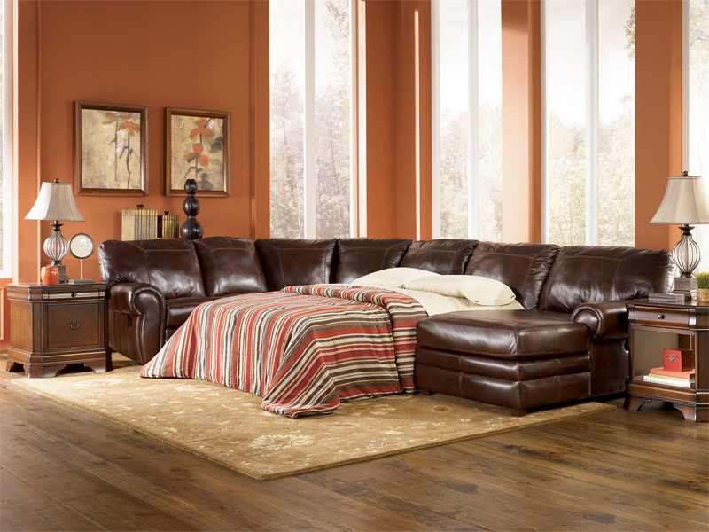 Comfort Leather Sleeper Sofas