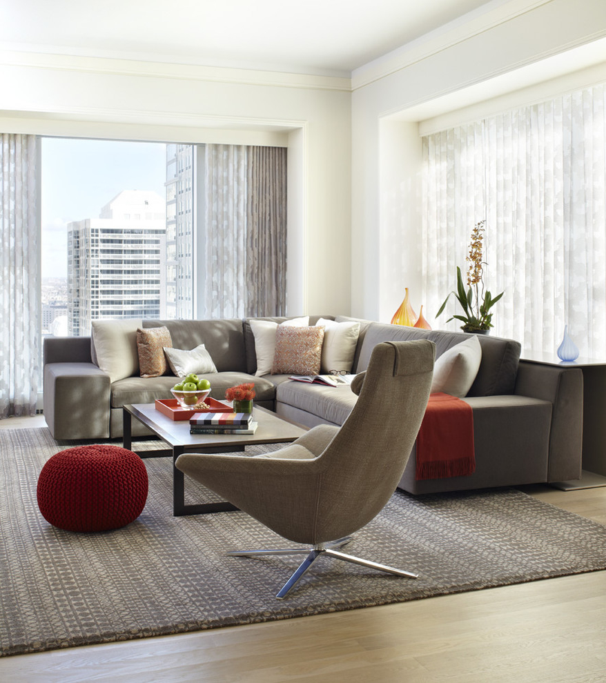 Contemporary Formal Apartment Living Room (View 6 of 14)