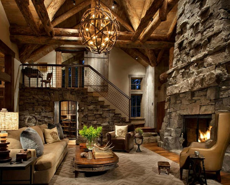 Contemporary rustic interior design