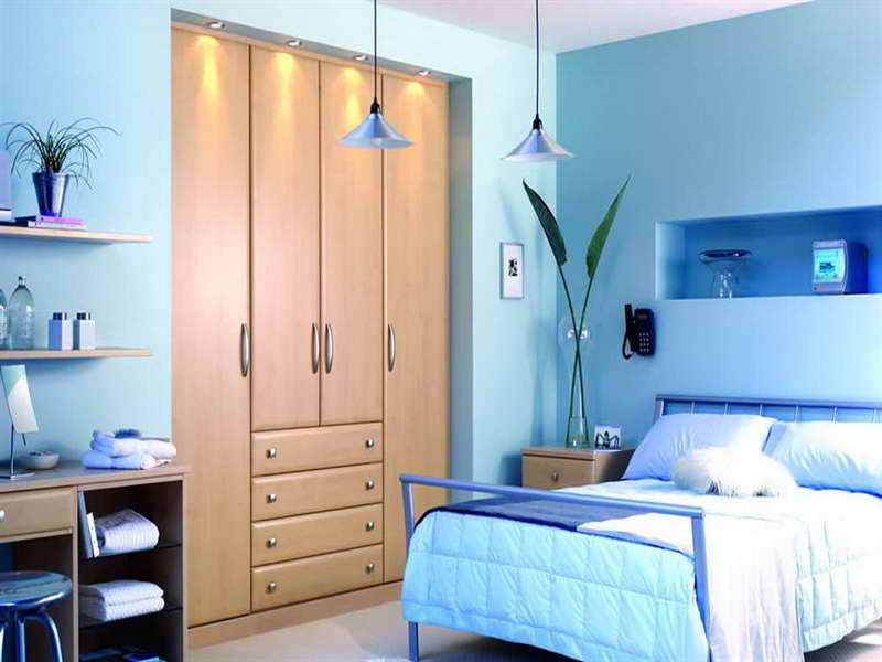 Luxury Blue Aquatic Paint Colors For Small Bedrooms Pendant Lamp Office Desk (Image 7 of 10)