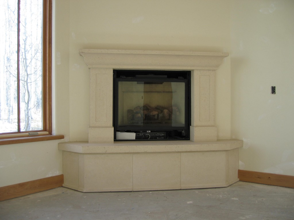 Custom Corner Fireplace Mantel Kits Ideas (Image 3 of 10)