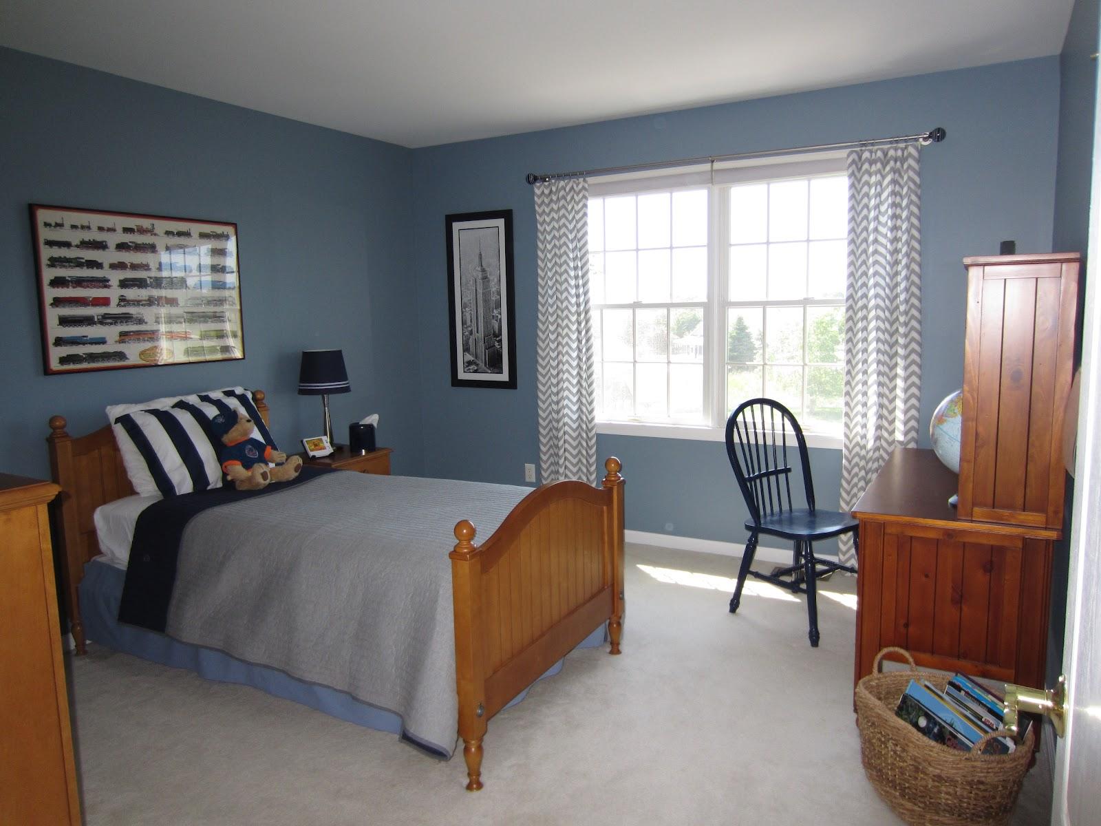Dark Blue Country Boys Bedroom