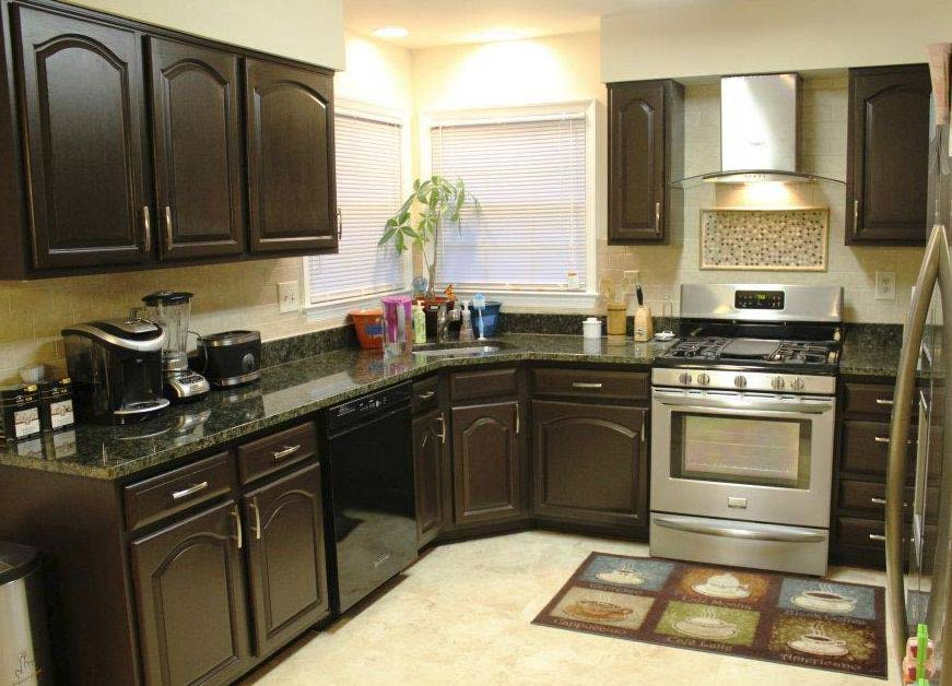 Dark Gold Painting Kitchen Countertops Ideas (Image 1 of 10)