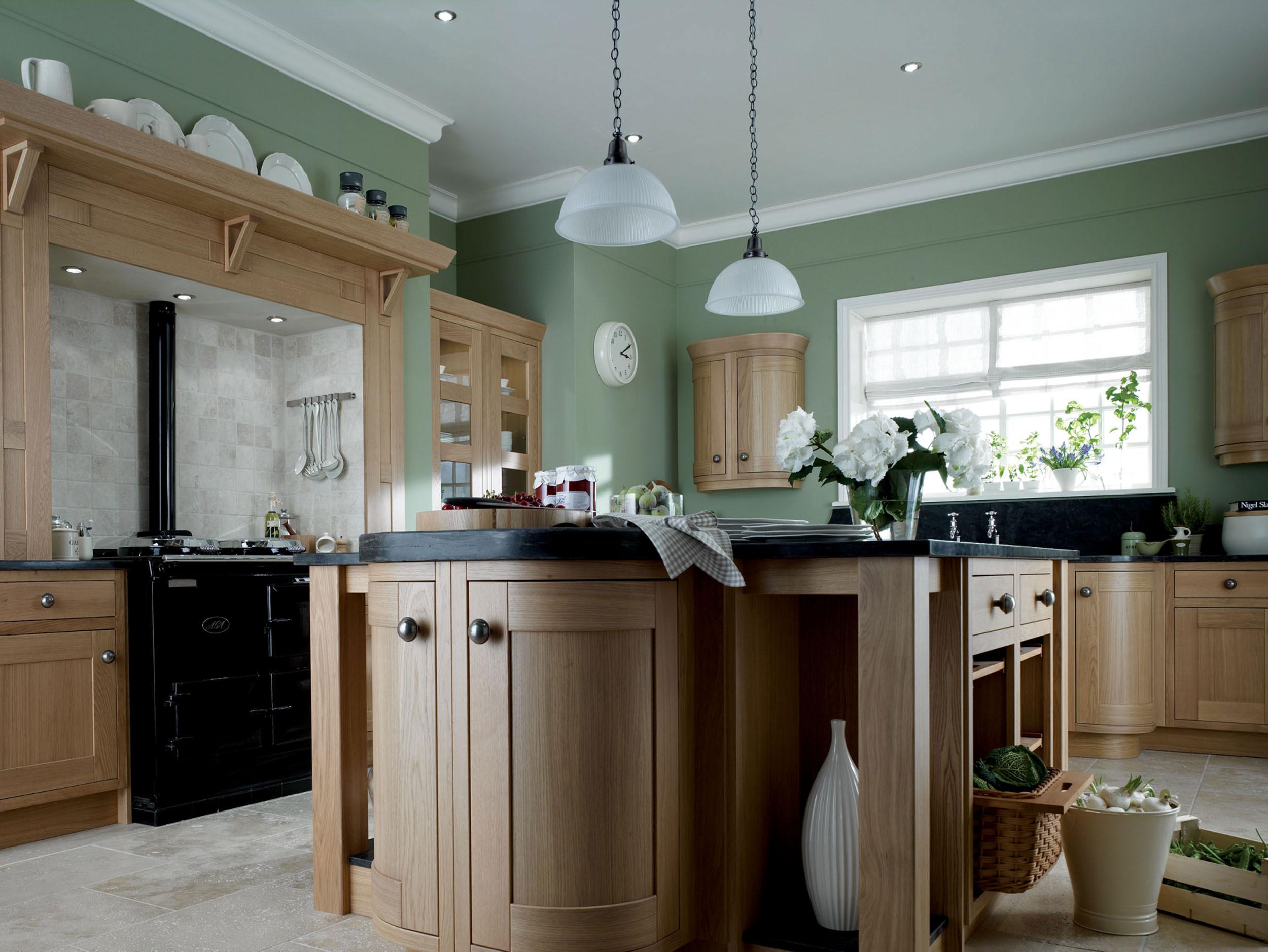 Dark Green Painting Kitchen Countertops Ideas