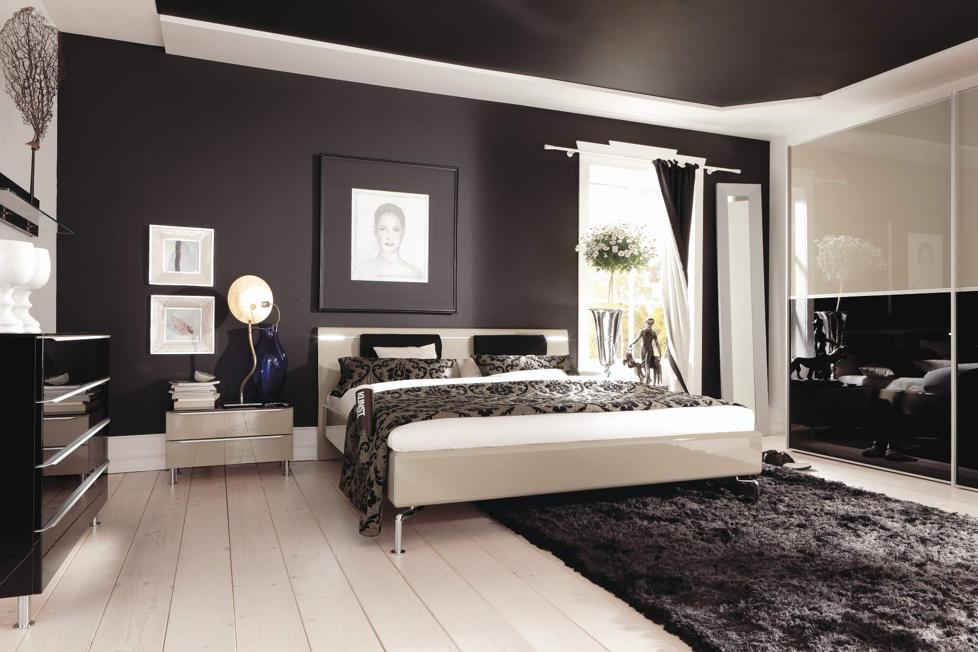 Dazzling Bedroom Contemporary Nightstands