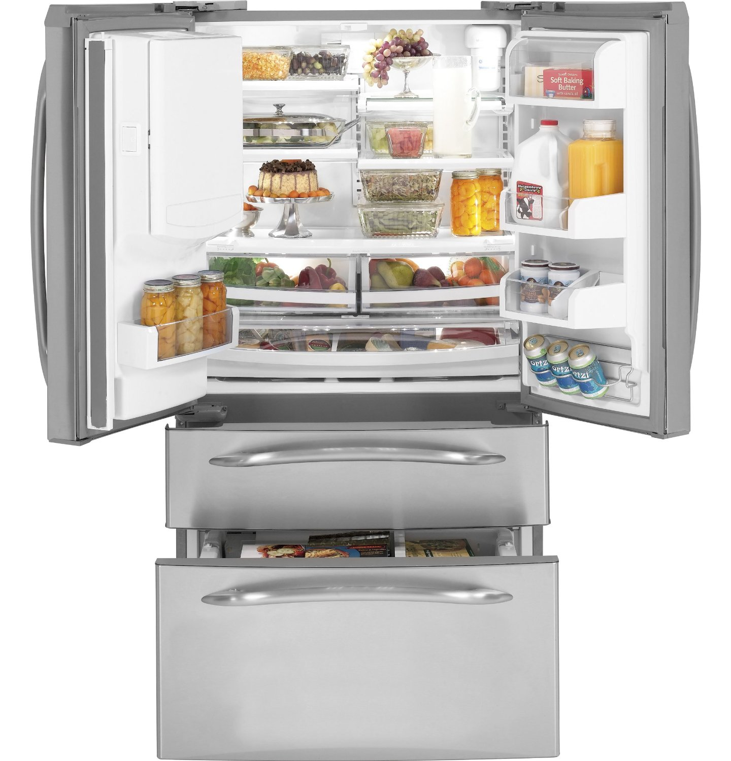 Depth Refrigerator (Stainless Steel) (Image 6 of 10)