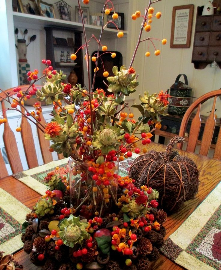 Dinning Room Centerpieces For Fall Home Decor Ideas (Image 3 of 10)