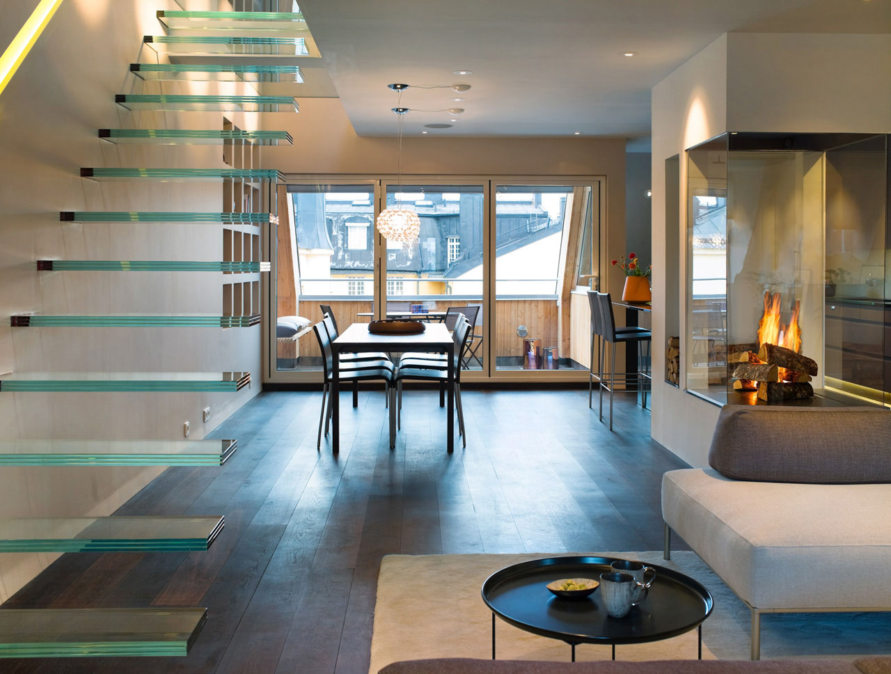 Elegant And Modern Minimalist Penthouse Design (View 4 of 10)