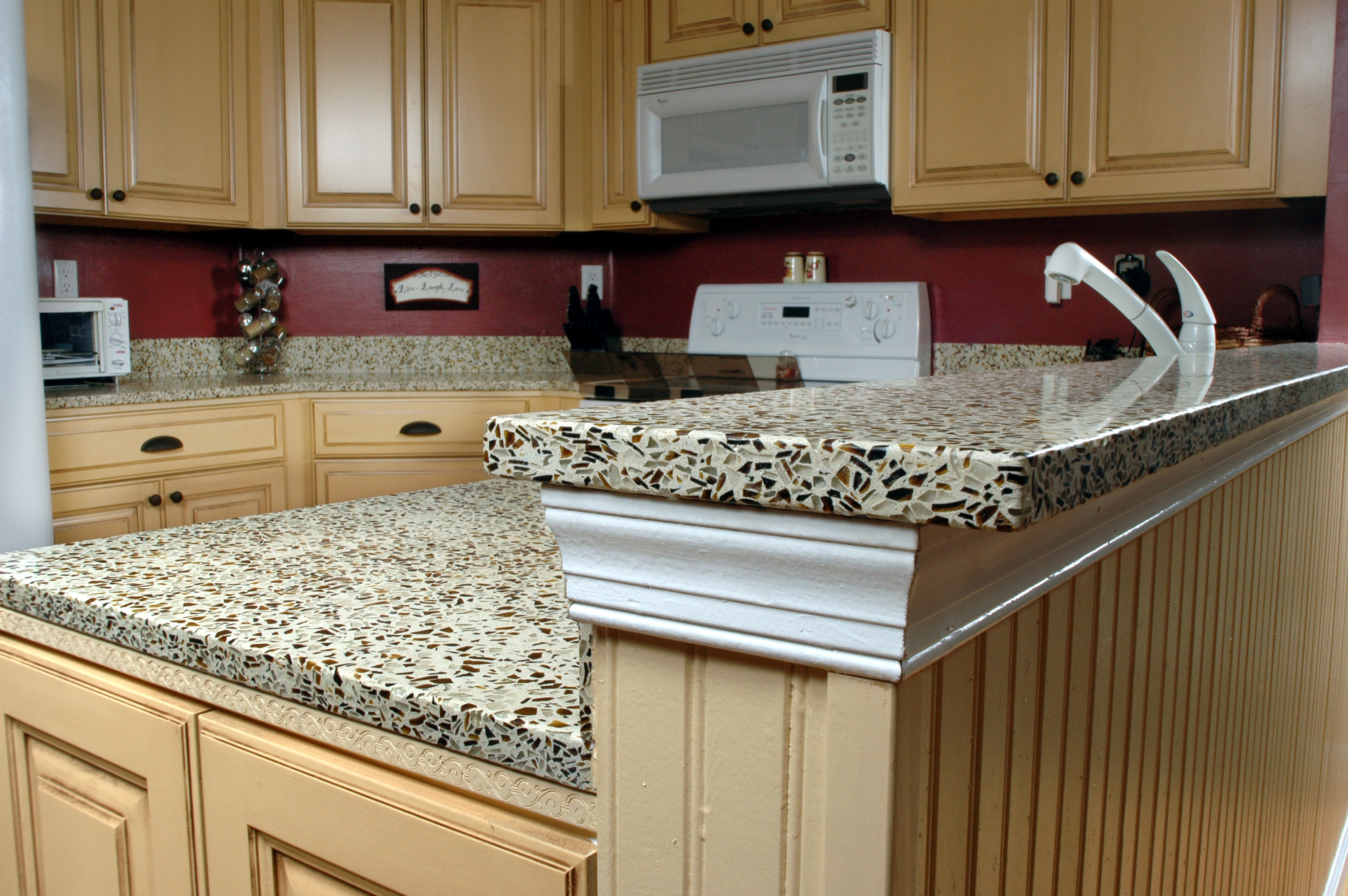 Elegant Brown Painting Kitchen Countertops Ideas (View 5 of 10)