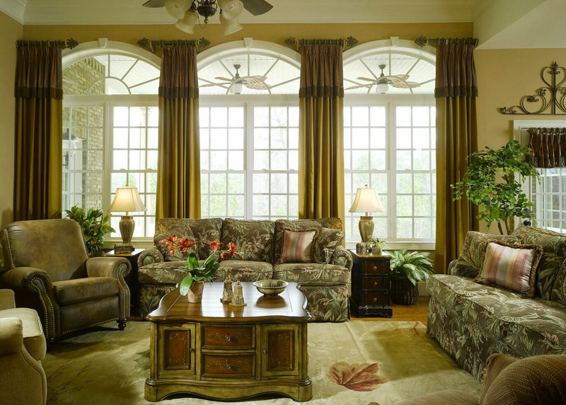 Elegant large windows in living room 1665 gallery photo for Types of living room windows