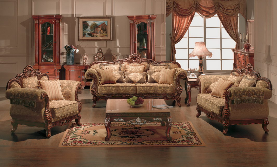 Elegant Pink Classic Sofas Furniture For Living Room (View 6 of 10)