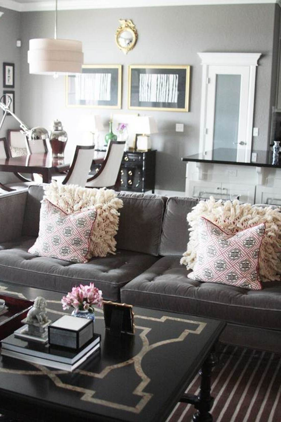 Elegant Pink Sofa Pillows For