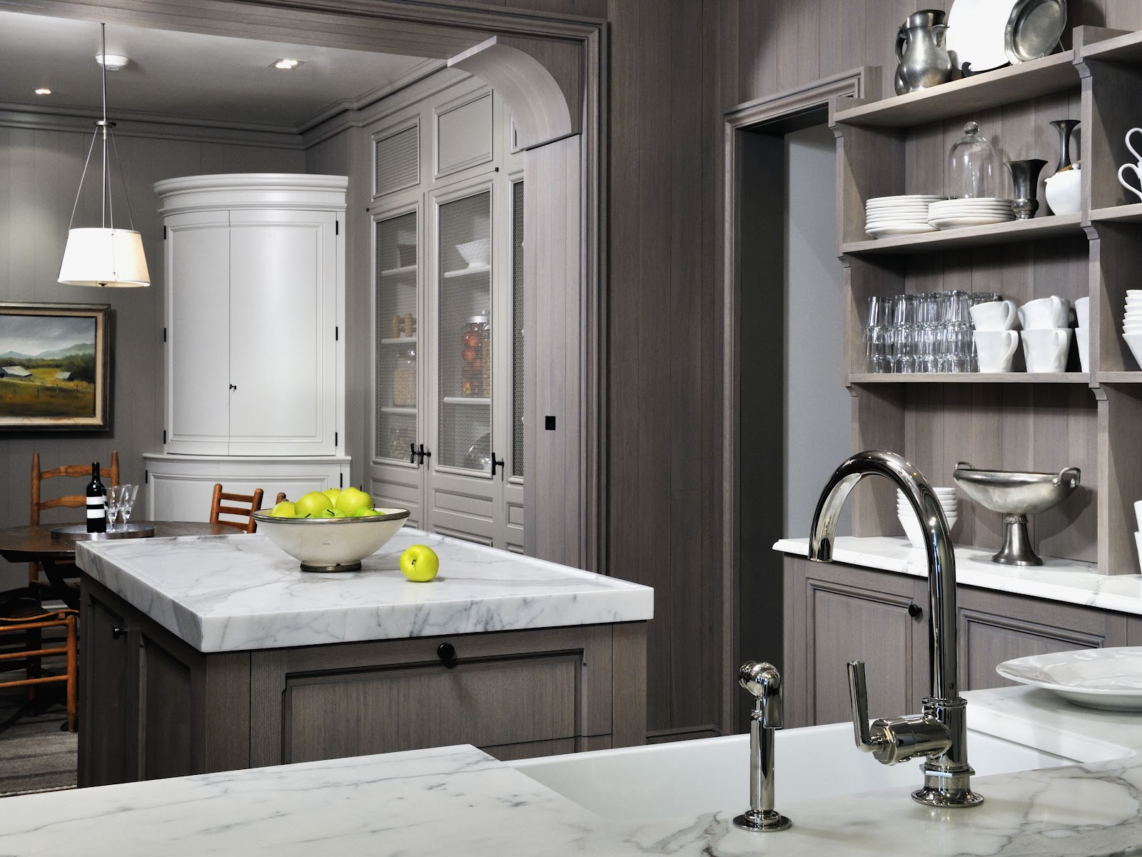 Elegant Vintage Grey Painting Kitchen Countertops Ideas (Image 6 of 10)
