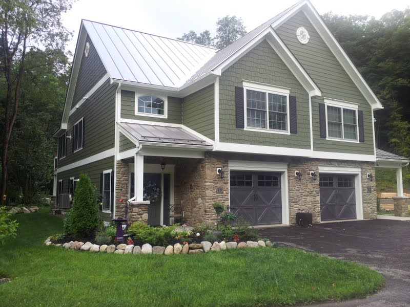 Example Vinyl Siding in American Houses