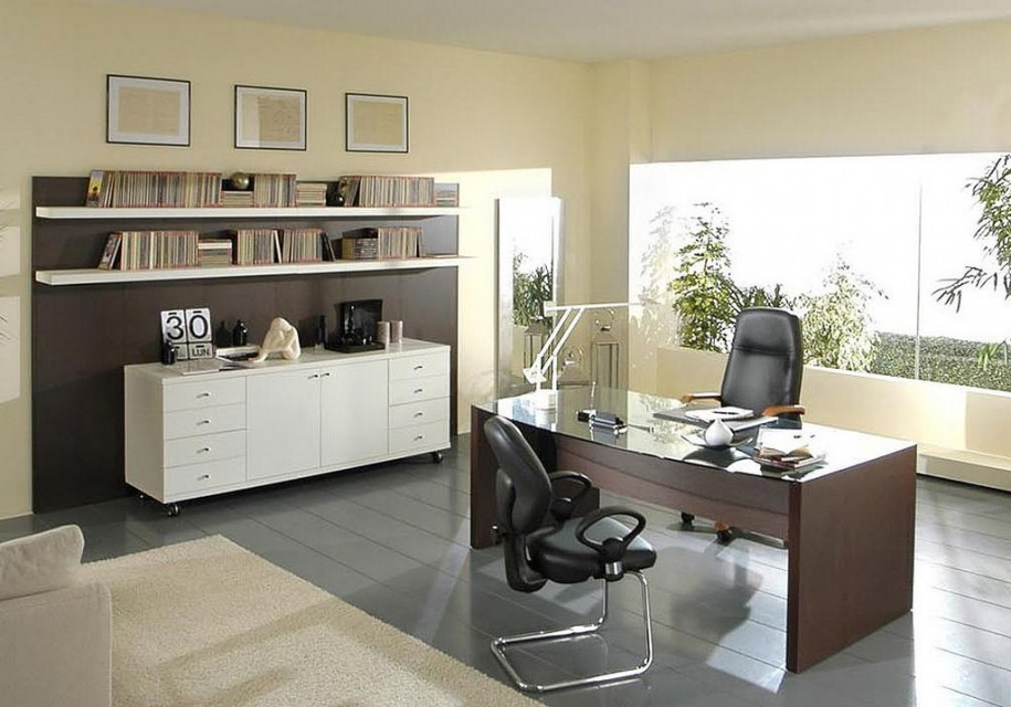 Formal Home Office Decorating Ideas For Men (Image 1 of 10)