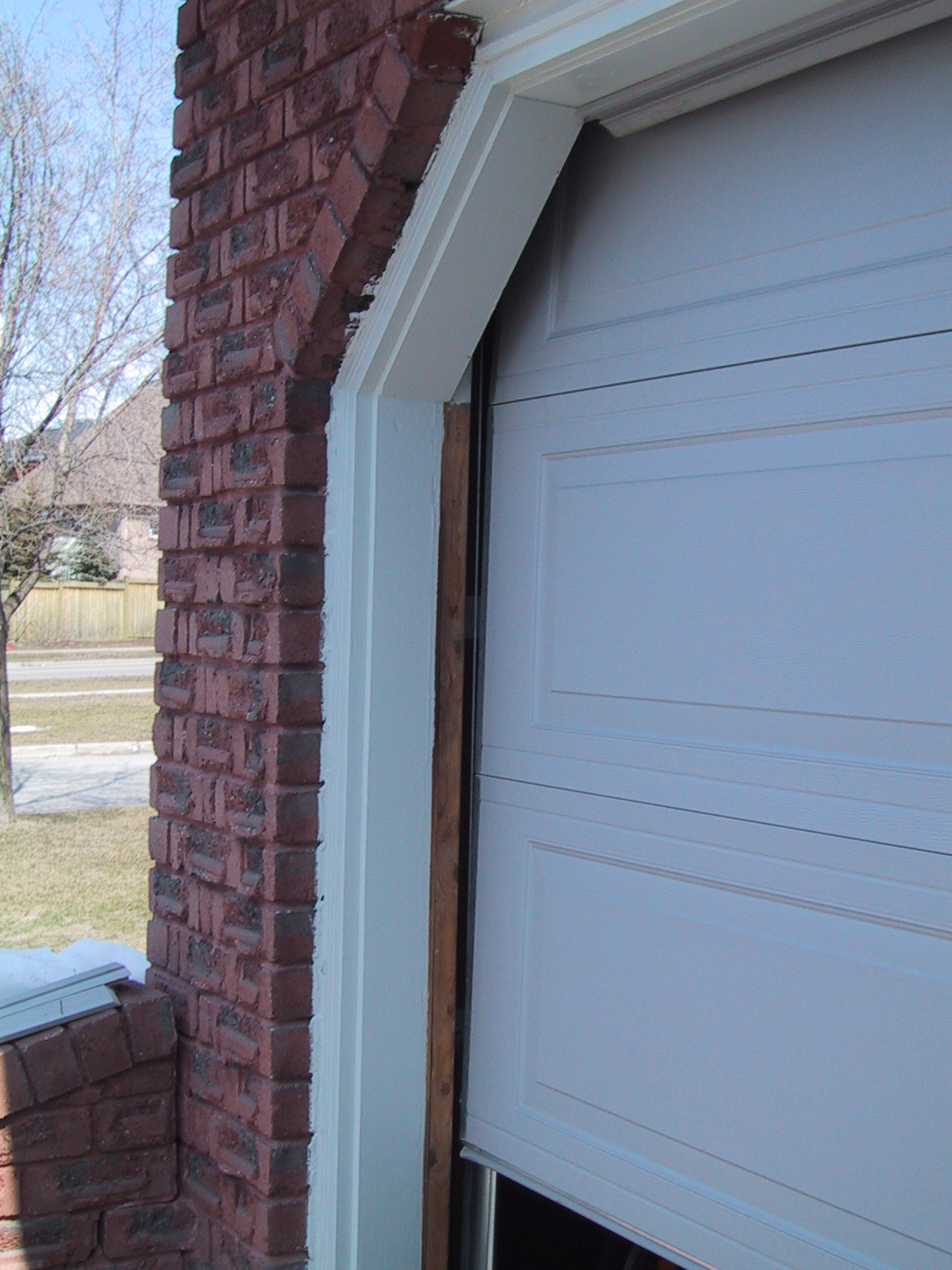 Garage Door Frame With No Weather Stripping