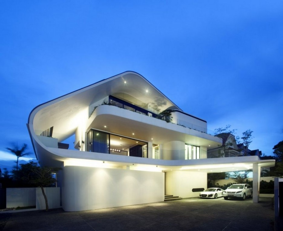Amazing modern architecture of the beautiful house design for Modern beautiful house