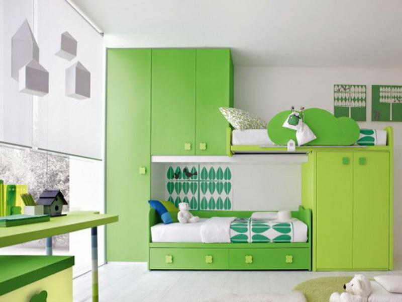 Green Cabinet And Transformable Murphy Bed Ideas