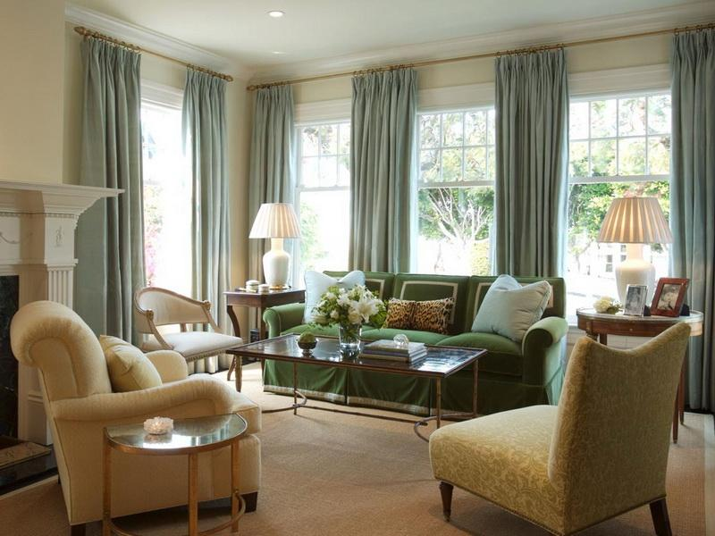 Green Luxury Large Windows In Living Room (Image 4 of 10)