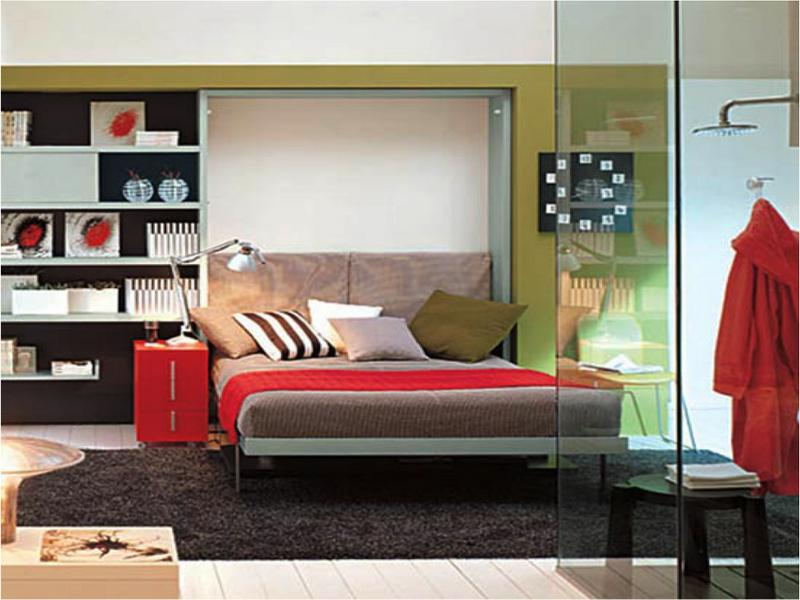 Green Transformable Murphy Bed Ideas