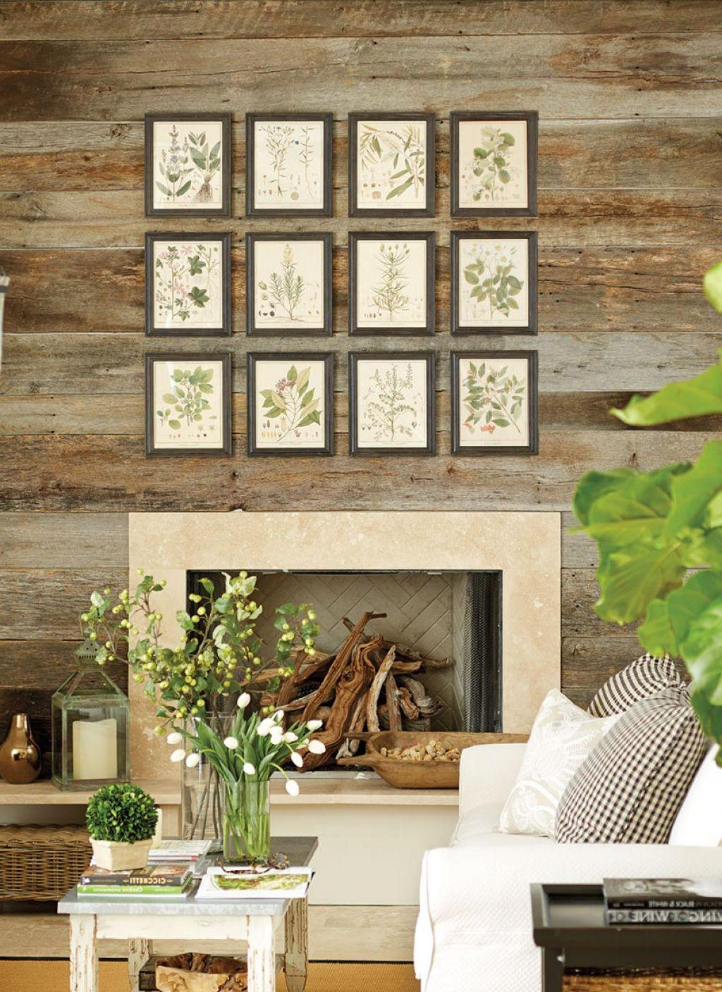 Hanging Art Over The Fireplace