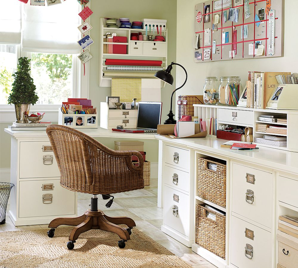 Home Office Organization Ideas for Sofa Tables with Storage
