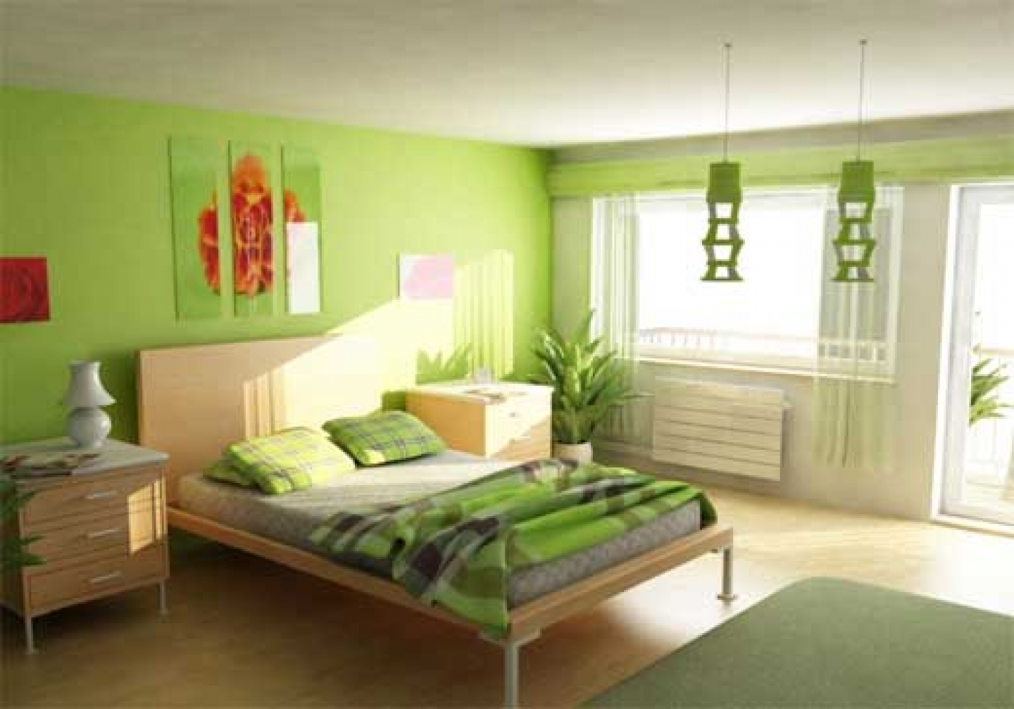 Interior Painting Bedroom Decorating (Image 7 of 10)