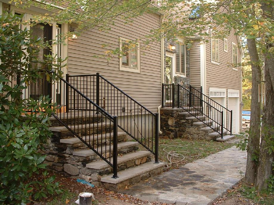 Large Stone Ways for Selecting Railings