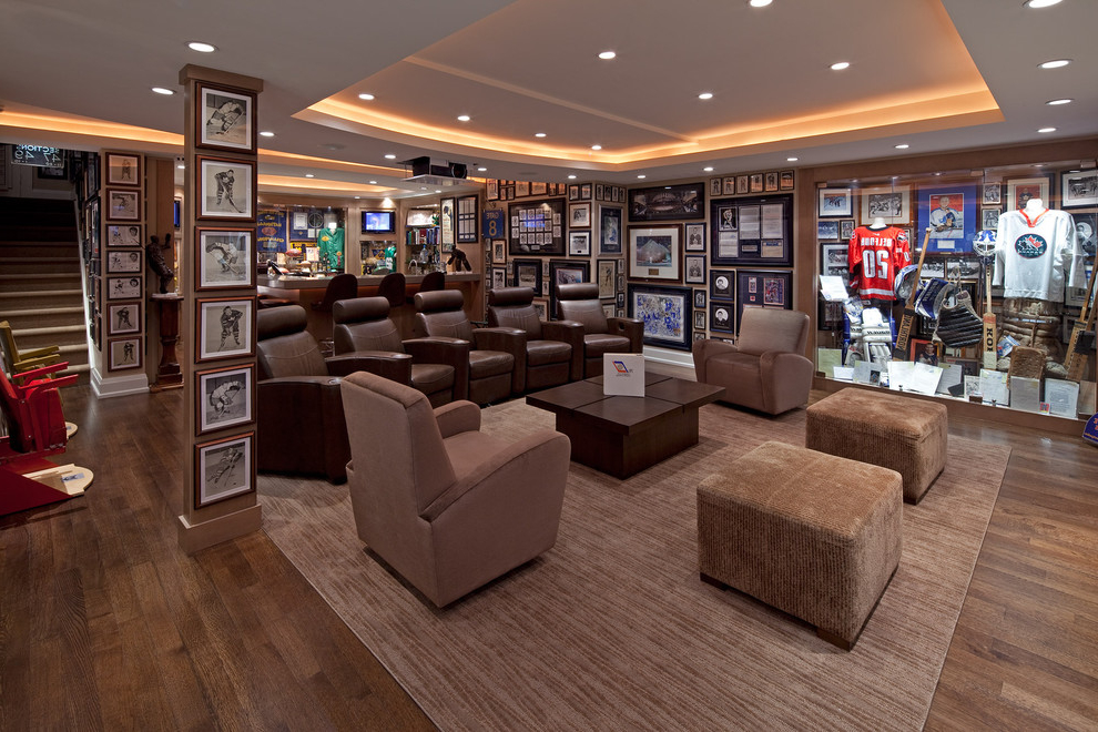Interior Living Room Designs In Sport Theme Custom Home