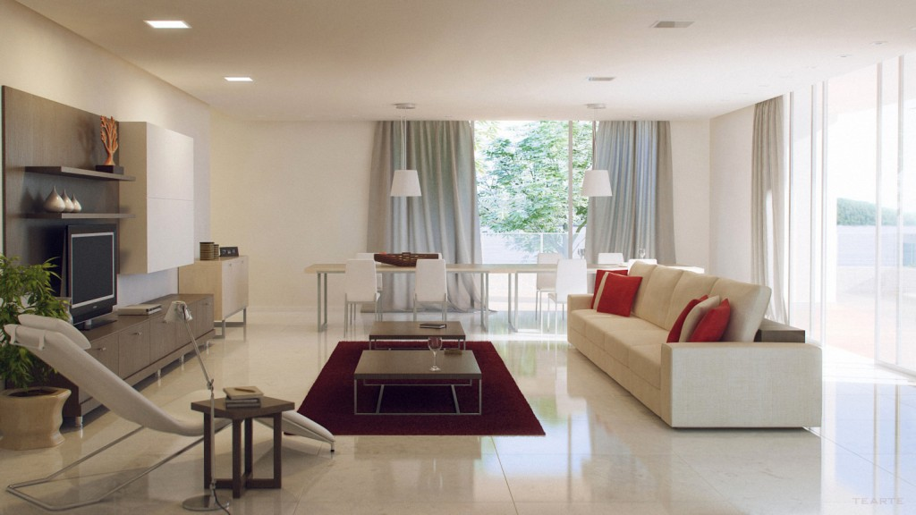 Lovely Minimalist Living Room Decorations (Image 7 of 10)