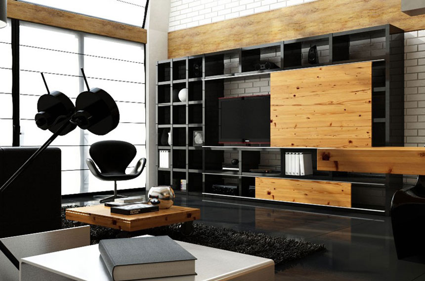 Fascinating Black And White Contemporary Apartment Designs ...