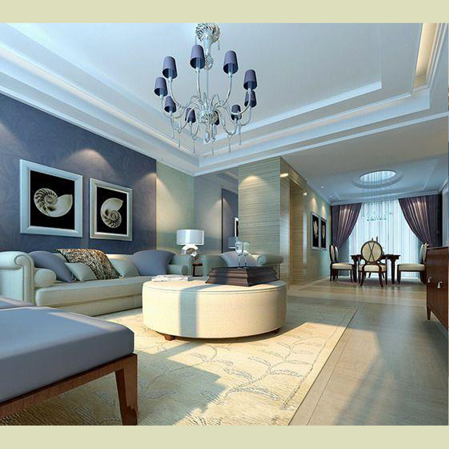 Luxury Wall With Dark Blue Color Decorations (View 5 of 10)