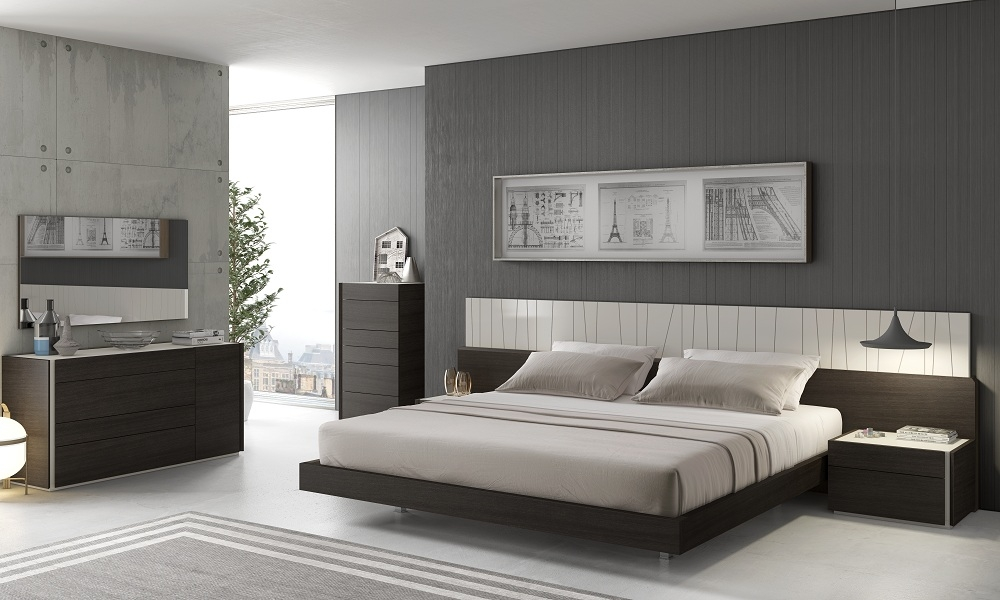 Modern Elegant Gray Bedroom Design Ideas Contemporary Nightstand