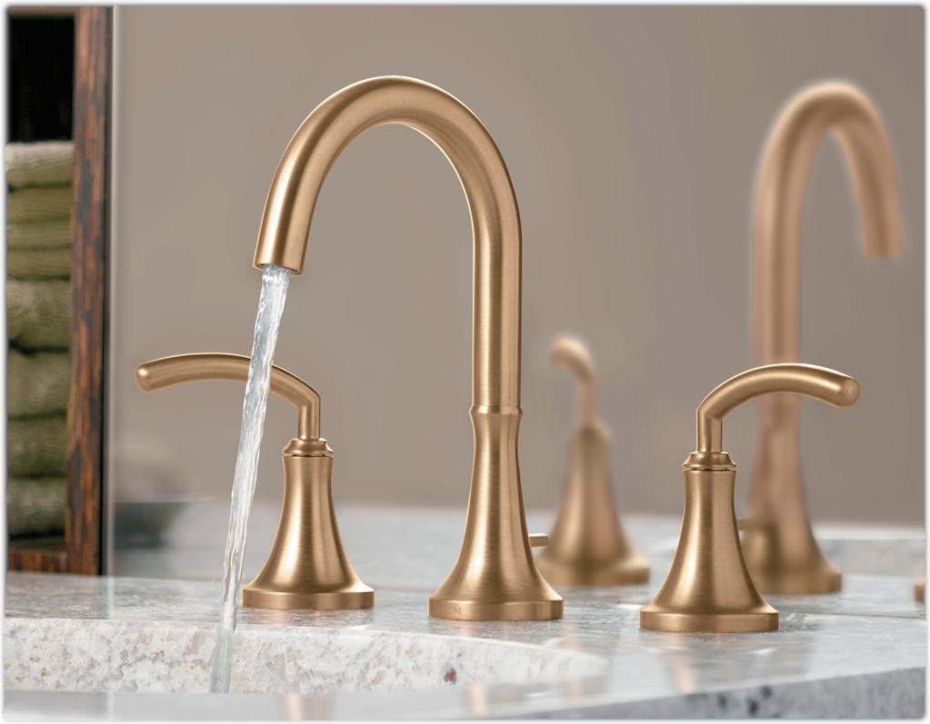 Modern Gold Moen Kitchen Faucets